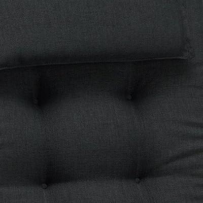 Auflagen für Liegen 9 cm dick mit Kopfpolster Miami 50148-52 in schwarz von Möbelträume - Gartenmöbel von Du und Dein Garten