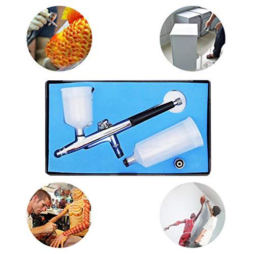 TianranRT★ Sp131 Airbrush-Werkzeug Mit Großer Kapazität Für Doppelt Wirkende Druckluftsteuerung, Airbrush-Set Modell Airbrush Haushaltsgeräte, Silber -
