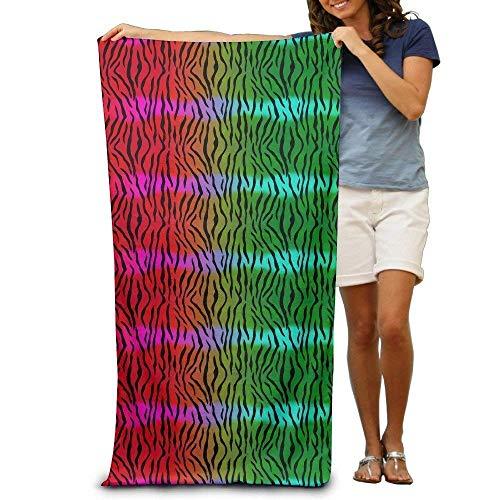 xcvgcxcvasda Badetuch, Soft, Quick Dry, Neon Tiger Print Adults Beach Towel 31 X 51-Inch