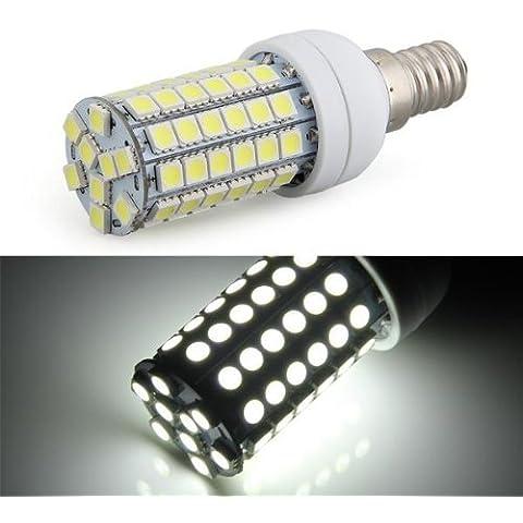 Bombilla Lámpara Foco Luz Blanco E14 8W 69 LED 5050 SMD AC 220V Bajo Consumo