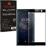 TECHGEAR® Sony Xperia XA2 [Verre Version 3D] Protecteur d'Écran en Verre Trempé avec Adhésif et Protection Plein Écran (Noir)