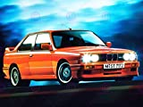 PHOTOGRAPHY BMW M3 SERIES 3 E30 ORANGE CAR AUTOMOBILE 18X24'' PLAKAT POSTER ART PRINT LV10664