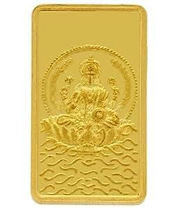 TBZ - The Original 2 gm, 24k(999) Yellow Gold Laxmi Precious Coin