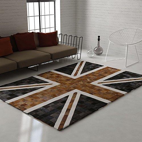 tappeto di soggiorno di stile europeo/ Jack flag tappeto/Creativo retrò britannico tappeto verde-A 160x230cm(63x91inch)