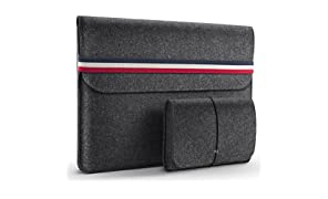 HOMIEE 13.3 Pouces Housse protectrice en Feutre 33-33.5 cm pour Ultra-Mince MacBook Pro Retina, MacBook Air, iPad Pro 32.5 cm, Dell/Lenovo/HP/Chormebook Ultra Slim Notebook,
