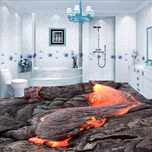 Ponana Volcanic Magma 3D Stereo Boden Malerei Malerei Benutzerdefinierte Wohnzimmer Kino Angebracht Tapete Wandbild-450X300Cm