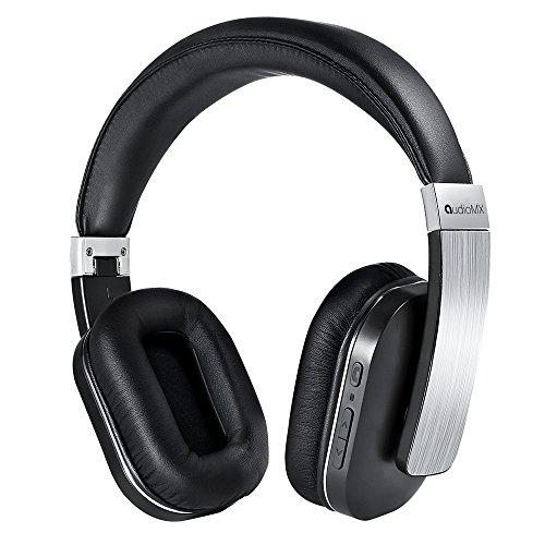 AudioMX Bluetooth Over-Ear Stereo Kopfhörer mit aptX Technologie und Integriertem Mikrofon, Silber