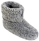 Herren Damen Hausschuhe Reine Wollhausschuhe - Hüttenschuhe Stiefel Warm Winter