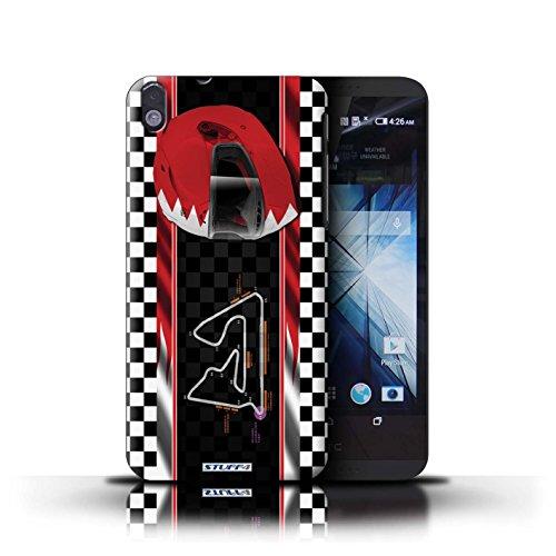 Kobalt® Imprimé Etui / Coque pour HTC Desire 816 / Malaisie conception / Série F1 Piste Drapeau Bahreïn/Sakhir