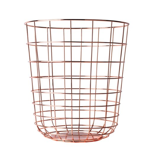 Menu 9000239 Draht-Papierkorb, Höhe 35 cm, Durchmesser 32 cm, kupfer (Korb Wire)