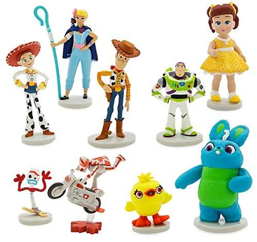 Disney Set 9 Personaggi PVC Toy Story 4 Anche Decorazione Torte