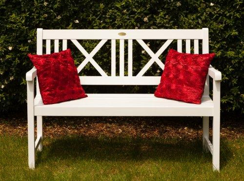 Landhausbank LÜBECK weiß lackiert, 2-Sitzer aus Eukalyptus FSC, B 120 x H 89 x T 59 cm - 2