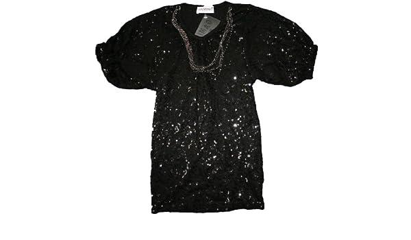 11f59f6e7e1d0 Tee shirt paillettes avec son sautoir enfant fille Gamino noir 4ans   Amazon.fr  Bébés   Puériculture