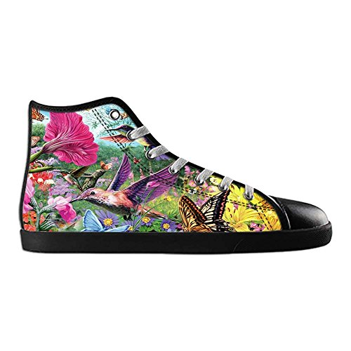 Dalliy Hummingbird And Flower Men's Canvas shoes Schuhe Lace-up High-top Sneakers Segeltuchschuhe Leinwand-Schuh-Turnschuhe E