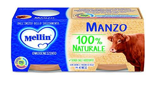 Mellin Omogeneizzato di Manzo 100% Naturale 24 Vasetti da 80 gr