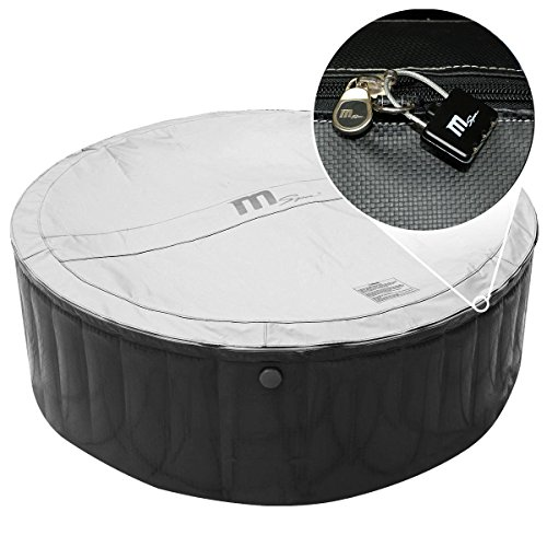 Whirlpool MSpa aufblasbar für 4 Personen SPA Ø180x70cm In-Outdoor Pool 118 Massagedüsen Timer Heizung Aufblasfunktion per Knopfdruck TÜV geprüft Bubble Spa Wellness Massage - 8