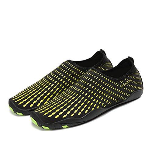 Bevoker chaussure de plage Unisex chaussures de natation Adapté le Yoga dans la Plage le Gymnase et la Piscine Vert