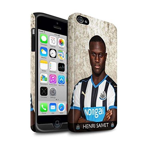 Officiel Newcastle United FC Coque / Matte Robuste Antichoc Etui pour Apple iPhone 4/4S / Pack 25pcs Design / NUFC Joueur Football 15/16 Collection Saivet