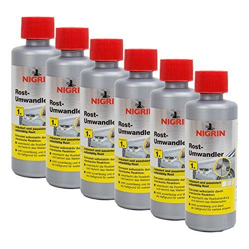 Preisvergleich Produktbild 6x NIGRIN 74032 Rostumwandler 200 ml