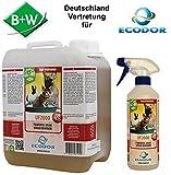 B+W Handels GmbH ECODOR - Uringeruch Entferner - UF 2000 1x 2,5l + Leere UF 2000 0,5l Sprühflasche.zur Geruchsneutralisierung die bei Haustieren entstehen.