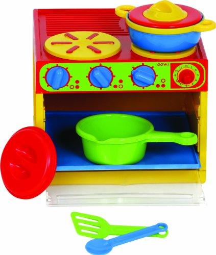 Preisvergleich Produktbild Gowi 454-91 3-er Herd, Küchenspielzeug, 7 teilig