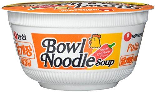Nong Shim Instantnudeln Pollo Bowl Noodle Soup / Koreanische Ramen Nudelsuppe (schnelle Zubereitung)