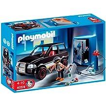 Playmobil Policía - Ladrón con caja fuerte y coche de huida (626564)