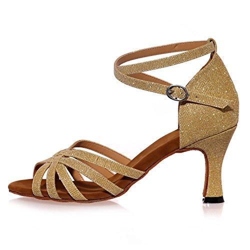 I Sandali Da Ballo Di Latino Delle Donne Dei Sandali aperti Più Colori Possono Essere Personalizzati / Multi-Colore Brown