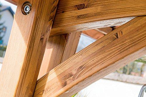 Design Hollywoodschaukel RIO aus Holz Lärche mit Dach von AS-S - 3
