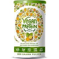 Vegan Protein | HASELNUSS | Pflanzliches Proteinpulver aus Reis, Lupinen, Erbsen, Chia-Samen, Leinsamen, Amaranth, Sonnenblumen- und Kürbiskernen | Mit Verdauungsenzymen | 600 Gramm Pulver