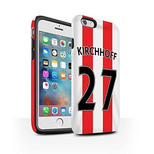 Offiziell Sunderland AFC Hülle / Matte Harten Stoßfest Case für Apple iPhone 6S+/Plus / Pack 24pcs Muster / SAFC Trikot Home 15/16 Kollektion Kirchhoff