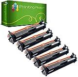 Printing Pleasure 5 Toner kompatibel zu CF217A 17A [mit Chip] für HP Laserjet Pro MFP M130nw M130fn M130fw M130a M102a M102w - Schwarz, Hohe Kapazität (1.600 Seiten)