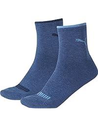 18 pair Puma Sneaker Quarter Socks Unisex Mens & Ladies, Farben:532 - navy/grey/nightshadow b, Socken & Strümpfe:39-42
