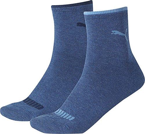 Puma Herren Lifestyle Women Short Sock 2P, Jeans, 39-42