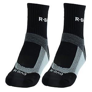 sourcing map Paar R-BAO autorisiert Erwachsene Mountainbike Training Radfahren Socken schwarz