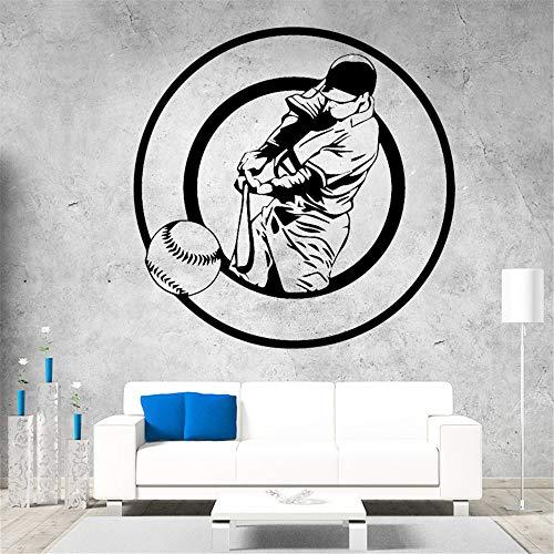 Baseball Aufkleber Kunst Vinyl Baseball Club Wandkunst Applique Wandbild blau 58cm X 58cm