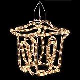 Laterne 22x25cm warmweiß Innen/Außen Lichtschlauch Lichterschlauch Leuchtschlauch