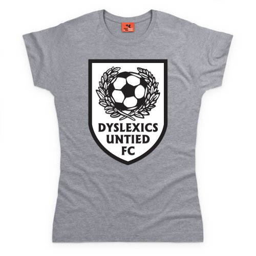 Dyslexics T-Shirt, Damen Grau Meliert