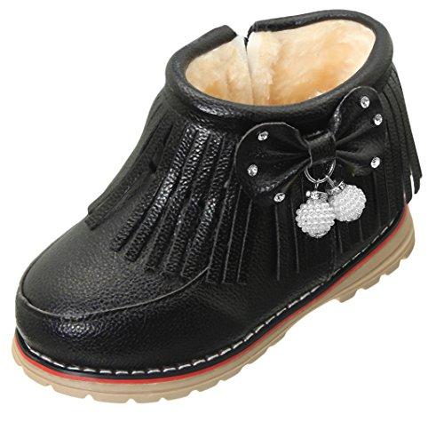 Eozy Hiver Bébé Fille Fourrure Martin Boots Chaussures Chaud à Frange
