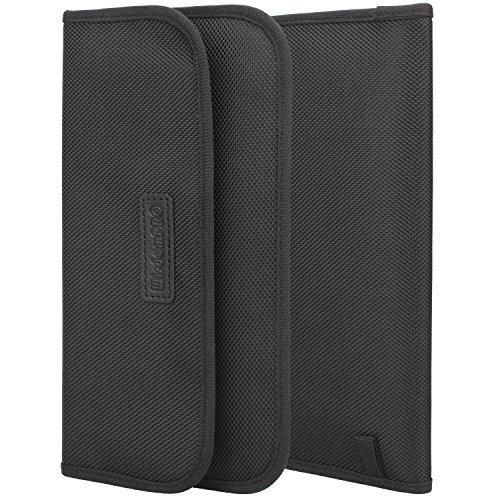 RFID-Signal Blocking Tasche, wisdompro RFID Signal Schirmung aus PU für Handy Sichtschutz und Auto Schlüsselanhänger schwarz