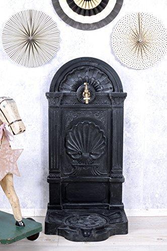Antiker Standbrunnen, Zierbrunnen, Gartenbrunnen, Brunnen, Eisenbrunnen für den den Garten, die Terrasse oder schöne Zuhause, in Grau - Palazzo Exclusive