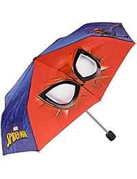 Paraguas Plegable para Niño Marvel Spiderman - Mini Paraguas con estampado El Hombre Araña - Ligero