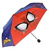 Marvel Spiderman Kinder Schirm für Jungen - Taschenschirm mit Spider Man - Leichter Kompakter und Windfester Regenschirm - 7+ Jahren - Durchmesser 91 cm - Perletti