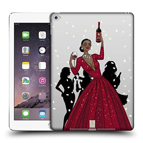 Head Case Designs Schwarze Frau In Einem Roten Kleid Wein Fest Harte Rueckseiten Huelle kompatibel mit iPad Air 2 (2014) Blk-wein