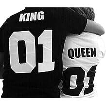 camiseta parejas king and queen. Black Bedroom Furniture Sets. Home Design Ideas