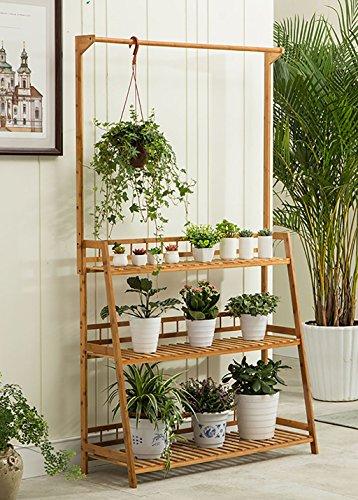 Porte-fleurs Support de fleur en bois léger / étagère de jardin intérieur / extérieur / Escalière 3F Escalier / Pots / Présentoir de fleurs de plantes porte plante ( Couleur : 60 cm )