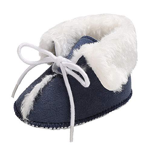 (Abstand Heligen Baby Mädchen weiche Booties-Reine Farbverband Schnee Aufladungs Kleinkind warme Schuhe)