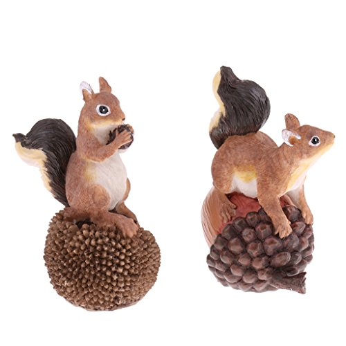 Homyl Handgemachter Tierfigur Modell Gartenfigur Dekofigur Haus Garten Dekoration - Eichhörnchen | Garten > Dekoration > Dekofiguren | Homyl