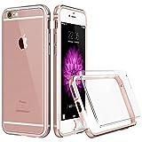 iPhone 6S / 6 Hülle (4,7 Zoll), ESR® Hybrid Schutzhülle mit HD Schutzfolie, Metallrahmen mit Silikon Bumper + Hart PC Zurück Kombination, Stoßdämpfung Kratzfeste Hülle für iPhone 6/6S (Rosa)