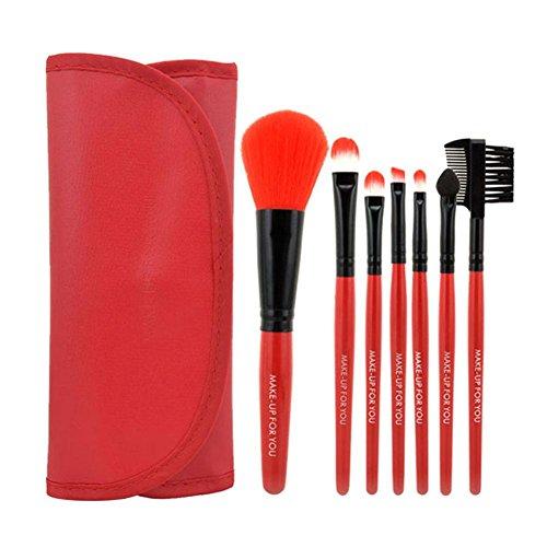 La Cabina 7 pcs / set Kit de Pinceau Maquillage Professionnel Maquillage Blush Fard à Paupières Kit de Pinceau + Sac de Rangement